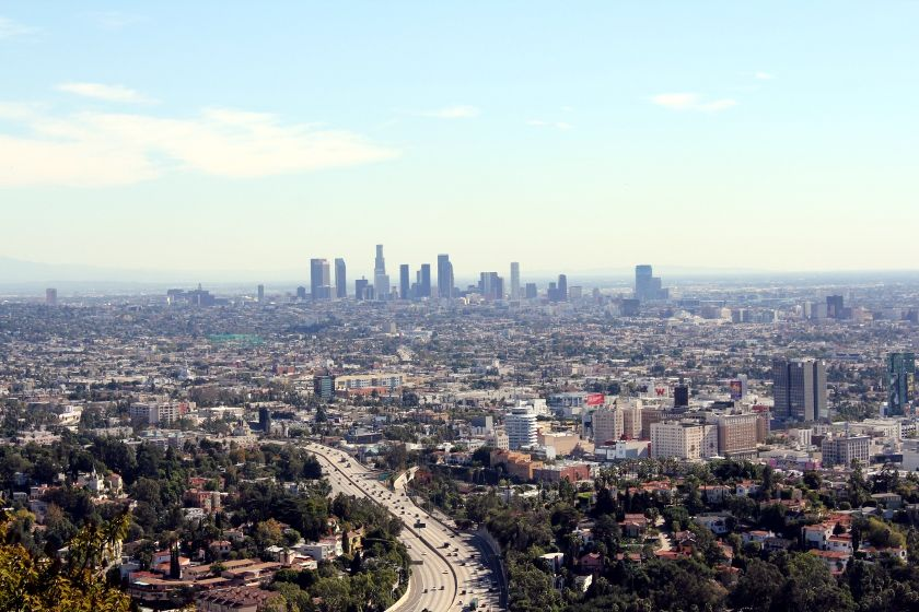 LA from above