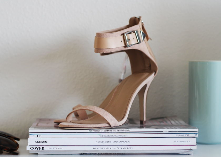 10.04.2013 // NEW IN // NUDE STRAPPY SANDALS