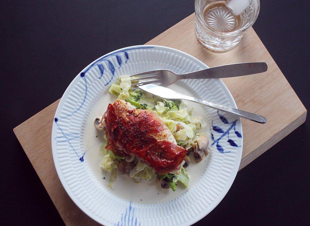OPSKRIFT - Kylling & Cremet spidskål