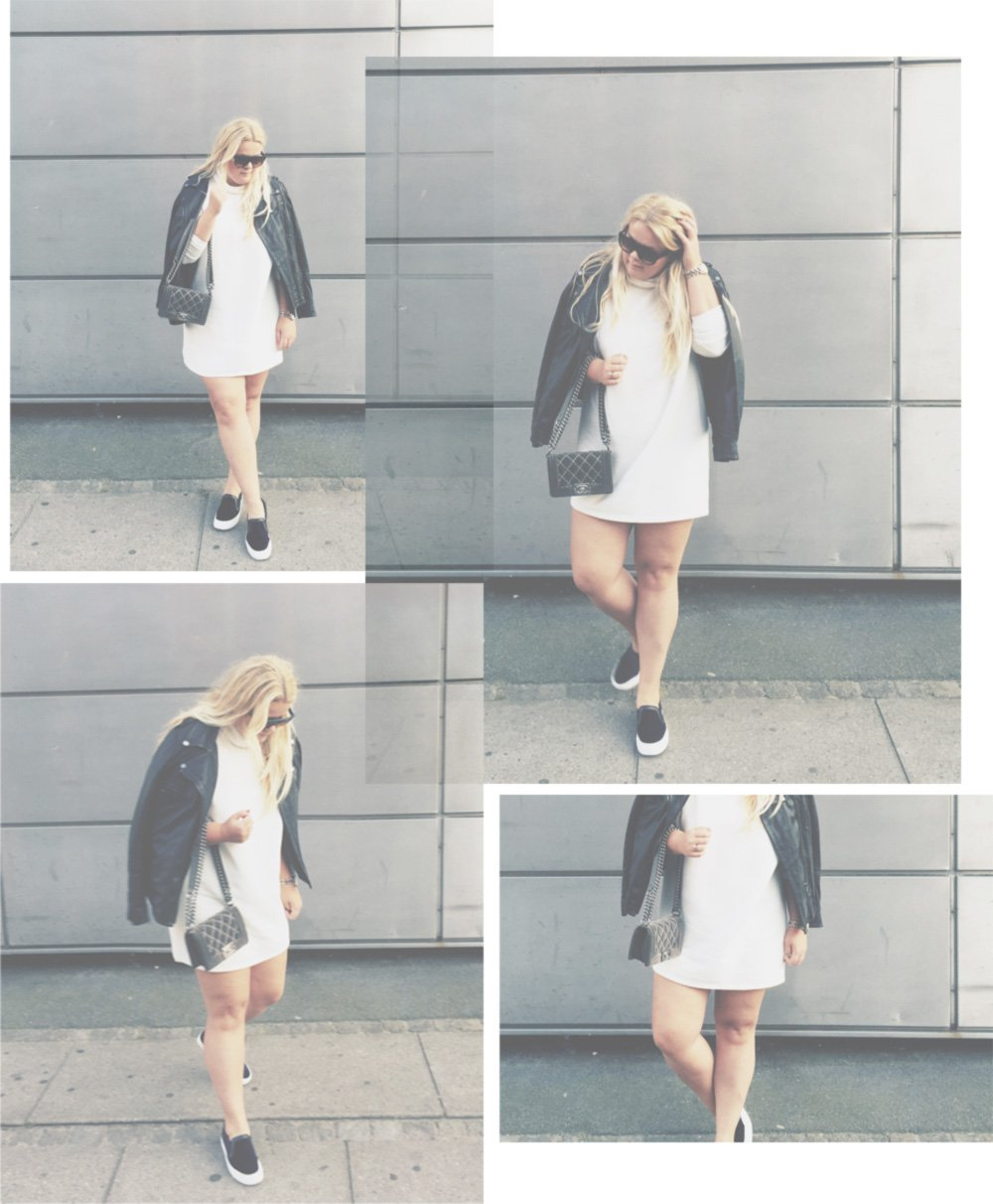 OUTFIT - Monki sweater dress & slip-ons..