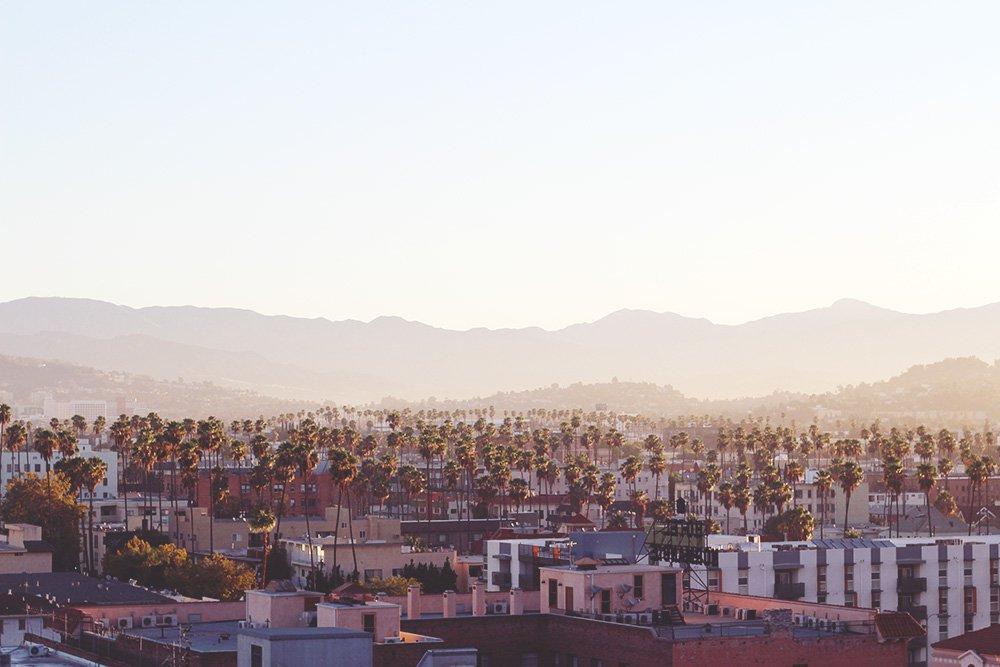 LOS ANGELES - godmorgen fra The Line..