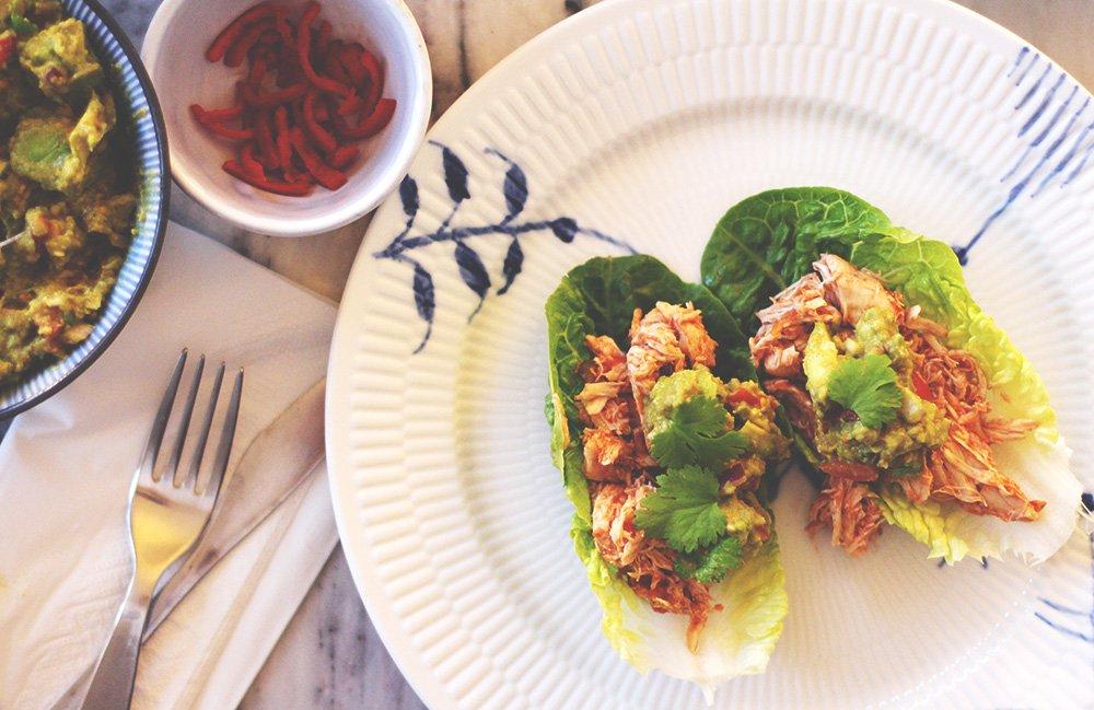 BRIDAL DIET - SalatTacos med pulled kylling..