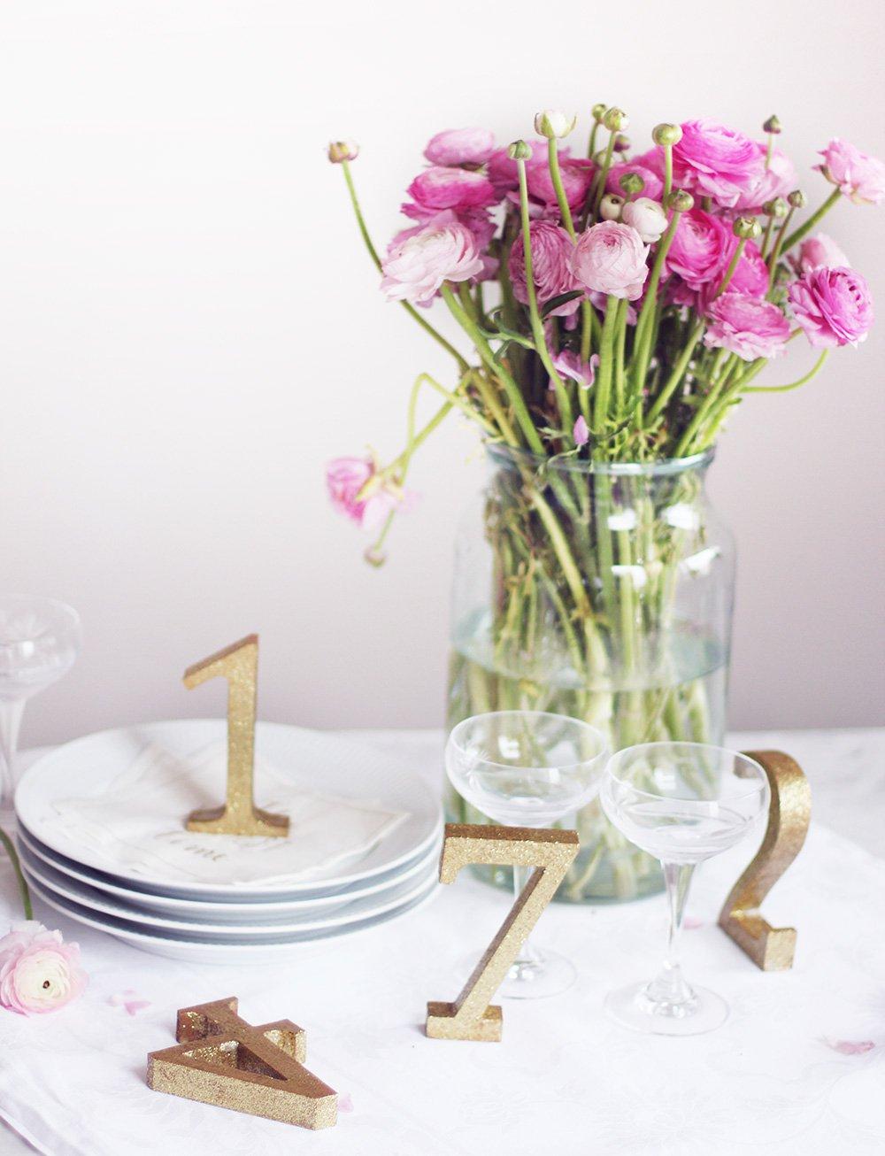 WEEKEND-SYSLER - DIY 'table numbers'..